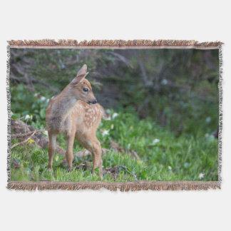 USA Washington State Blacktail Deer Fawn Throw