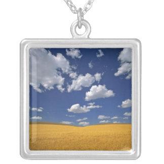 USA, Washington State, Colfax. Ripe barley meets Square Pendant Necklace