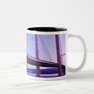 USA, Washington State. Columbia River is 2 Two-Tone Coffee Mug