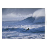 USA, Washington State, La Push. Man kayak Card