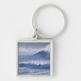 USA, Washington State, La Push. Man kayak Keychain