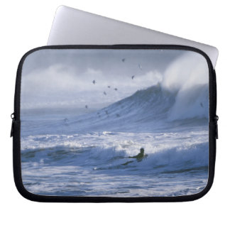 USA, Washington State, La Push. Man kayak Laptop Sleeve