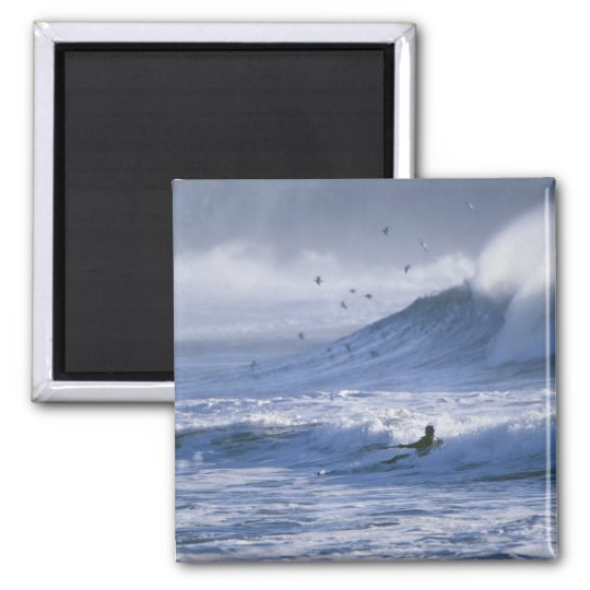 USA, Washington State, La Push. Man kayak Magnet