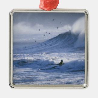 USA, Washington State, La Push. Man kayak Christmas Ornaments