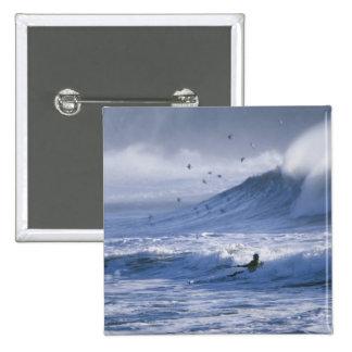 USA, Washington State, La Push. Man kayak Pinback Button