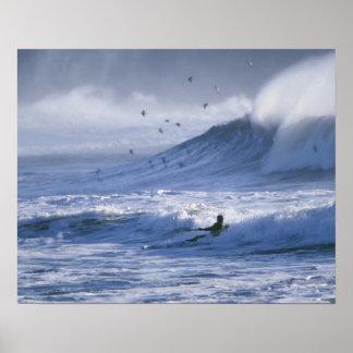USA, Washington State, La Push. Man kayak Poster