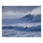 USA, Washington State, La Push. Man kayak Posters