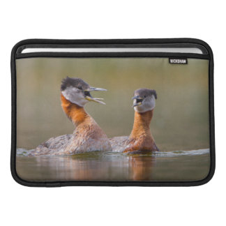 USA, Washington State. Mated Red-Necked Grebes Sleeve For MacBook Air