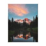 USA, Washington State. Mt. Rainier Reflected Canvas Print