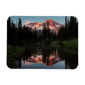 USA, Washington State. Mt. Rainier Reflected Magnet