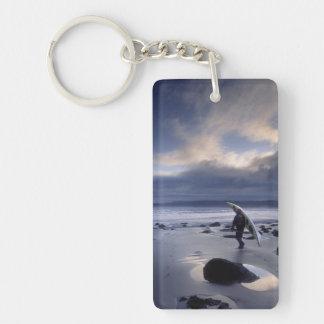 USA, Washington State, Olympic National Park. Double-Sided Rectangular Acrylic Keychain