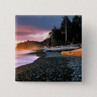 USA, Washington State, Olympic NP. Waves lap the Button