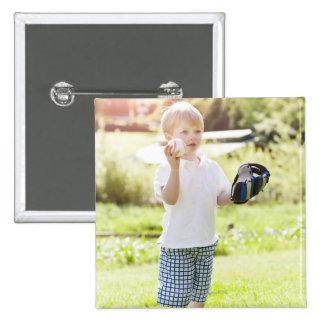 USA, Washington State, Seattle, Cute boy (2-3) Pinback Button
