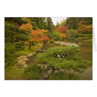 USA, Washington State, Seattle. Japanese Greeting Card