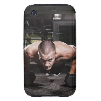 USA, Washington State, Seattle, Mid adult man Tough iPhone 3 Cases