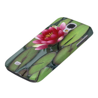 USA, Washington State, Seattle. Water lily and Galaxy S4 Case