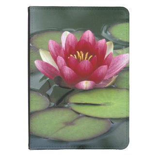 USA, Washington State, Seattle. Water lily and Kindle Case