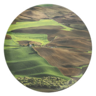 USA, Washington. View of Palouse farm country Dinner Plate