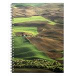 USA, Washington. View of Palouse farm country Notebook