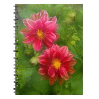 USA, Washington, Whidbey Island. Dahlia montage Notebook