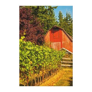 USA, Washington, Whidbey Island. Winery Canvas Print