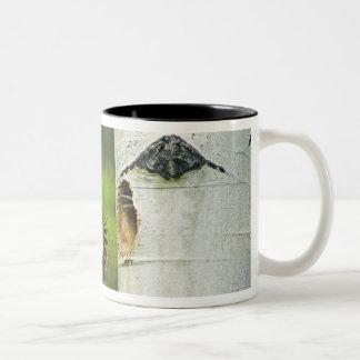 USA, Washington, Yakima. Male pleated Two-Tone Coffee Mug
