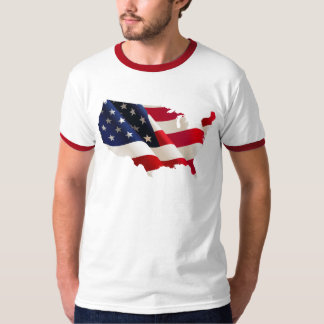 Usa wave flag T-Shirt