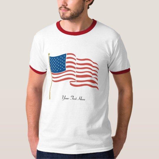 USA-Waving Flag T-Shirt