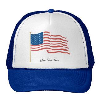 USA-Waving Flag Trucker Hat