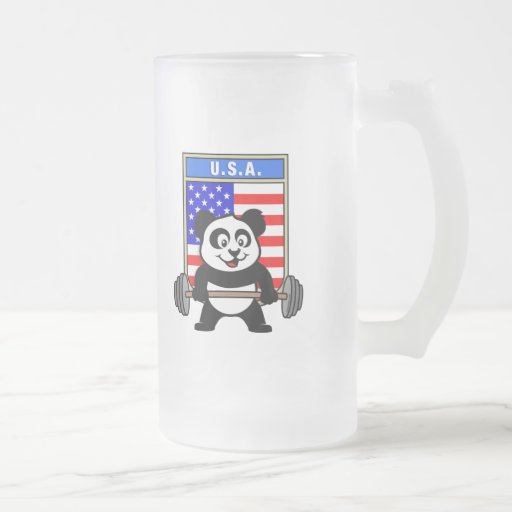 USA Weightlifting Panda Coffee Mug