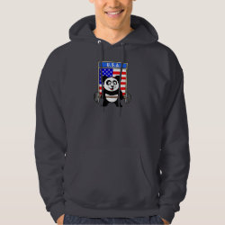 Men's Basic Hooded Sweatshirt with USA Weightlifting Panda design