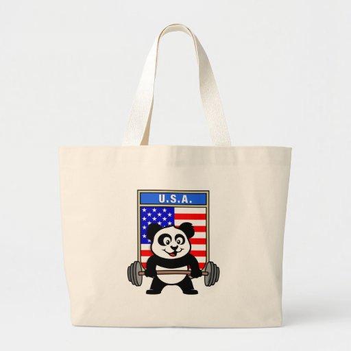 USA Weightlifting Panda Jumbo Tote Bag