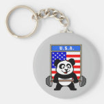 USA Weightlifting Panda Key Chains