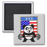 USA Weightlifting Panda Magnet