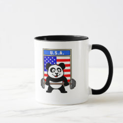 Combo Mug with USA Weightlifting Panda design
