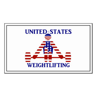 USA Weightlifting - Powerlifting Business Card Templates