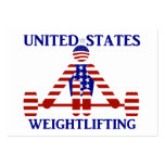 USA Weightlifting - Powerlifting Large Business Cards (Pack Of 100)