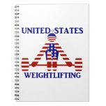 USA Weightlifting - Powerlifting Spiral Notebook