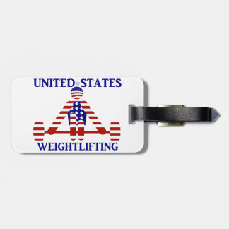 USA Weightlifting - Powerlifting Tag For Luggage