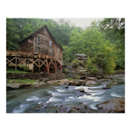 USA, West Virginia, Babcock SP. Rustic Glade Poster