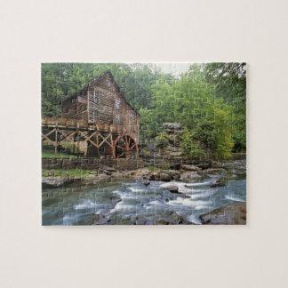 USA, West Virginia, Babcock SP. Rustic Glade Puzzles