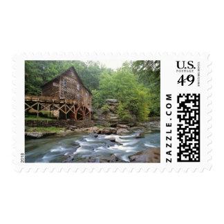 USA, West Virginia, Babcock SP. Rustic Glade Stamp