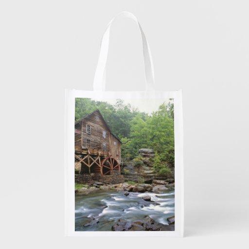 USA, West Virginia, Babcock SP. Rustic Glade Grocery Bag
