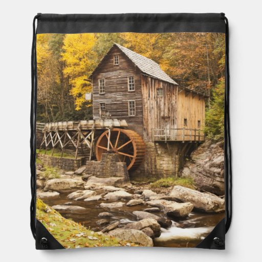 USA, West Virginia, Clifftop. Babcock State 2 Drawstring Backpack