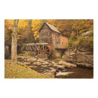 USA, West Virginia, Clifftop. Babcock State 2 Wood Canvases