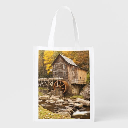 USA, West Virginia, Clifftop. Babcock State 2 Market Totes