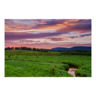 USA, West Virginia, Davis. Landscape Poster