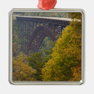 USA, West Virginia, Fayetteville. New River Metal Ornament