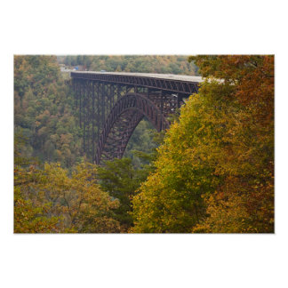 USA, West Virginia, Fayetteville. New River Poster
