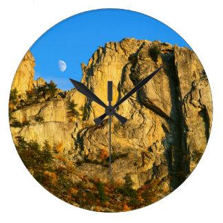 USA, West Virginia, Spruce Knob-Seneca Rocks 2 Large Clock